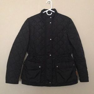 Black Quilted Coach Winter Jacket